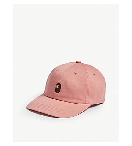 a9094491717 A Bathing Ape Ape Head Cotton Strapback Cap In Pink