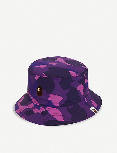A BATHING APE Camouflage cotton bucket hat