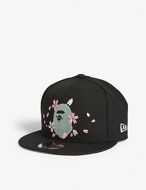 f88f5df65eb A BATHING APE New Era Sakura blossom logo wool snapback cap