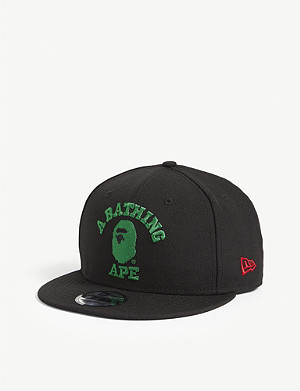 d9c5f1a9bb3 A BATHING APE · New Era embroidered logo wool snapback cap
