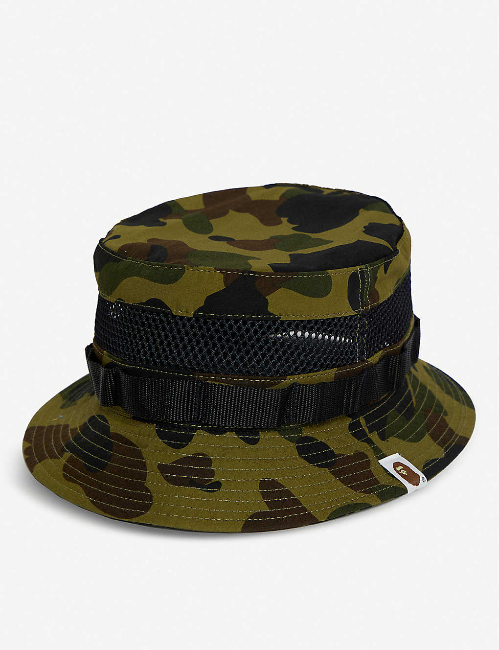 b866cf5dd11d80 A BATHING APE - Camouflage mesh cotton bucket hat | Selfridges.com