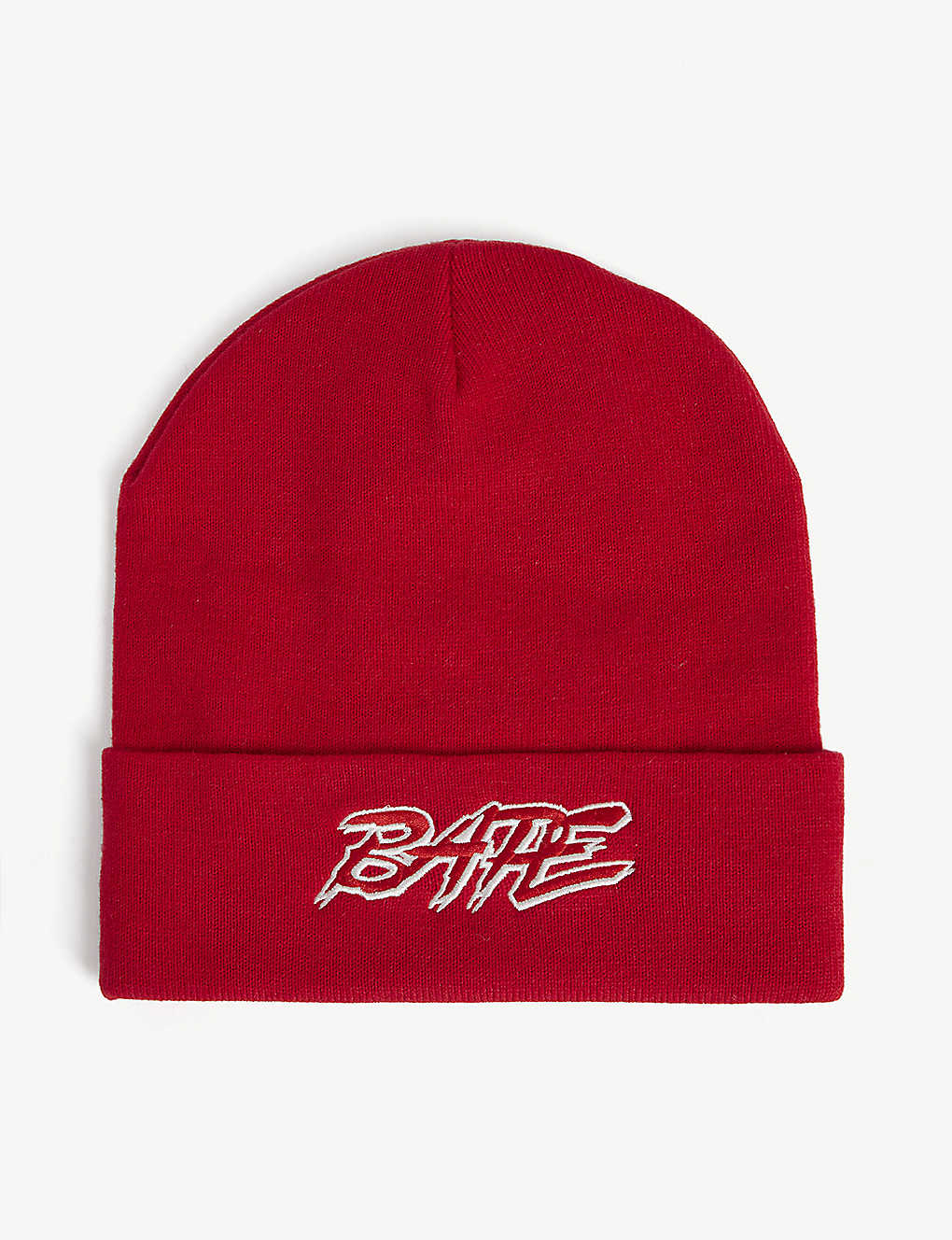 A BATHING APE: Ribbed beanie hat
