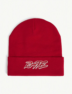 A BATHING APE Ribbed beanie hat