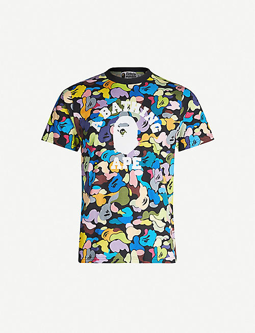 A BATHING APE Camouflage-print cotton-jersey T-shirt