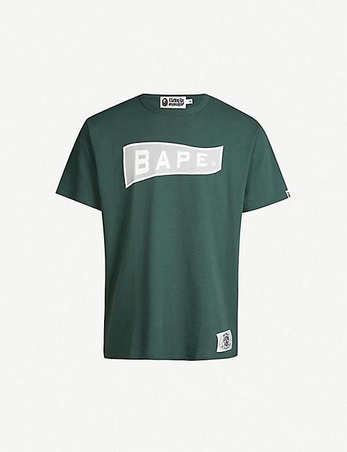 adc5f73c92f7 A BATHING APE Logo-print cotton-jersey T-shirt