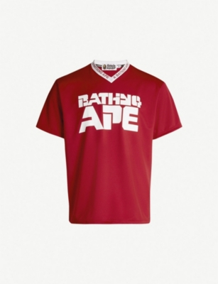 A BATHING APE Logo-print stretch-jersey T-shirt