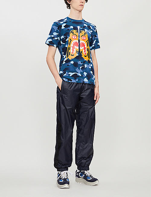 A BATHING APE Gradation Camo tiger-print cotton-jersey T-shirt