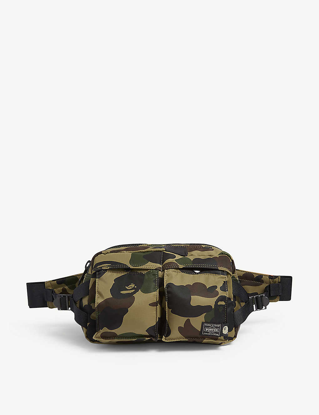 72a8699519de A BATHING APE - Bape x Head Porter camouflage-print belt bag ...