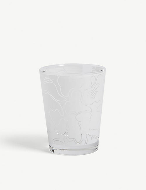 A BATHING APE Frosted camo glass tumbler