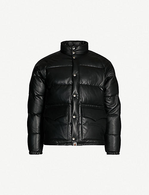 2453fea7f6c1 A BATHING APE Padded leather-down jacket
