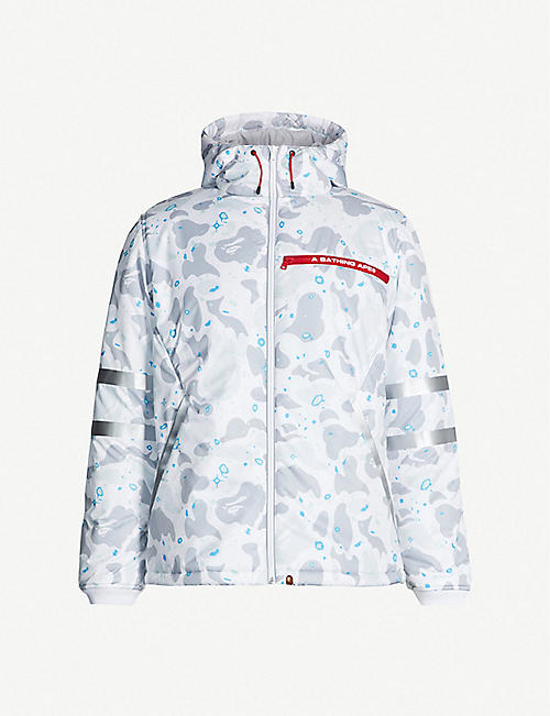 94bb008f A BATHING APE Space camouflage-print padded shell hooded jacket