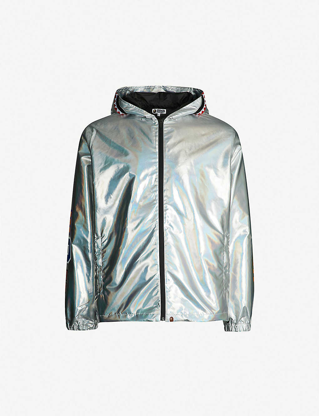 a0254c05c64 A BATHING APE - Contrast-panel holographic shell jacket