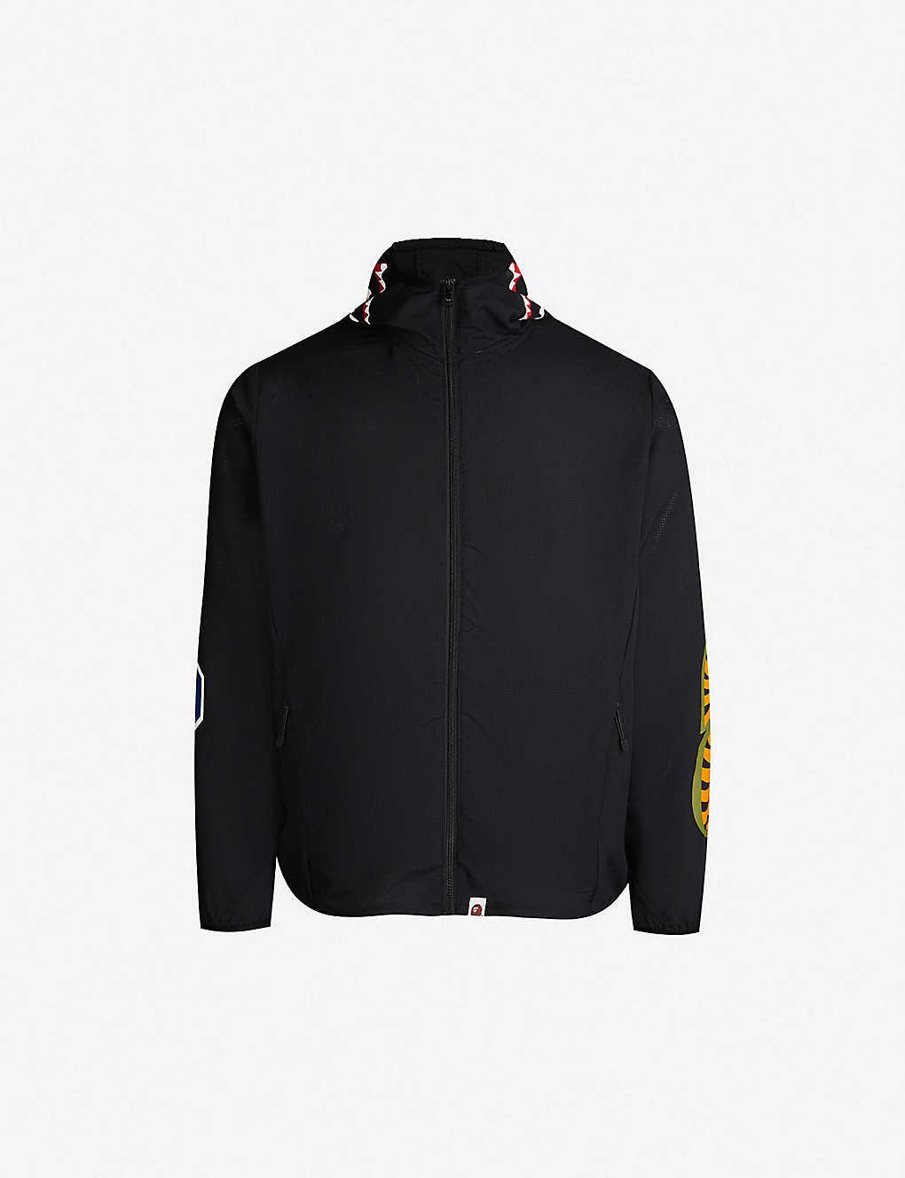 fc58c22479b0 A BATHING APE - Shark hooded shell jacket