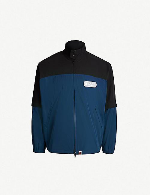 9c11a711a40 A BATHING APE Two-tone shell jacket