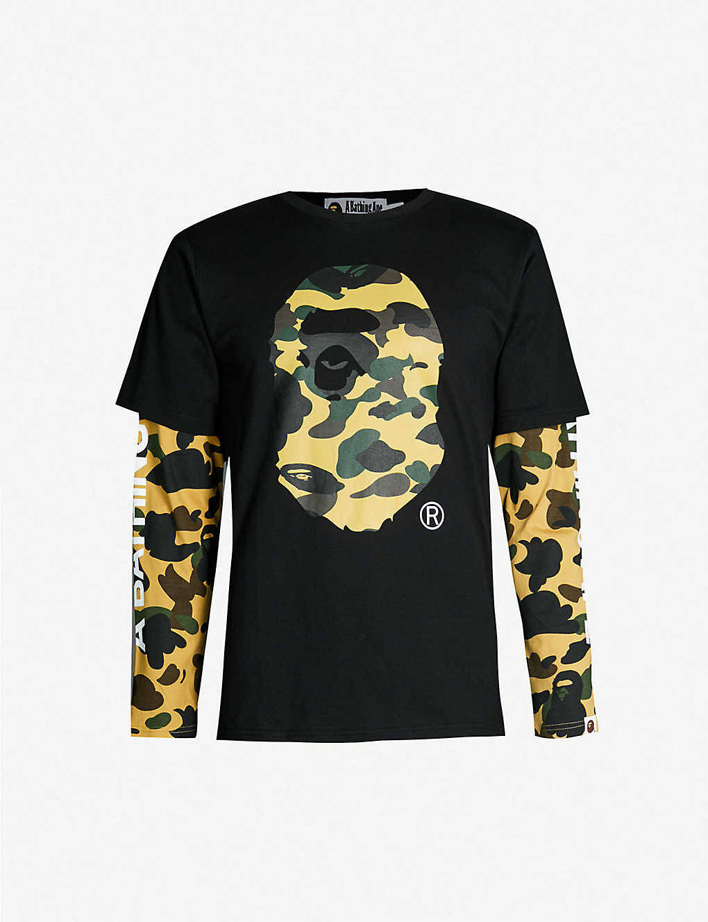 e0131bc2 A BATHING APE - Camouflage logo-graphic cotton-jersey T-shirt ...