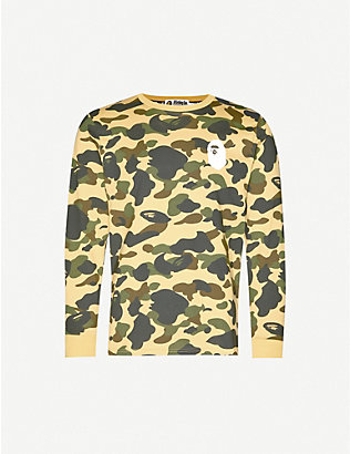 A BATHING APE: 1st Camo camouflage-print cotton-jersey top