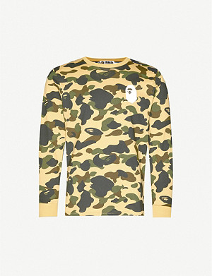 A BATHING APE 1st Camo camouflage-print cotton-jersey top