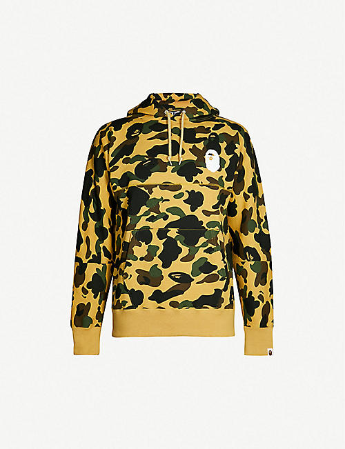 A BATHING APE Graphic-back camouflage cotton-jersey hoody 10f32f5490