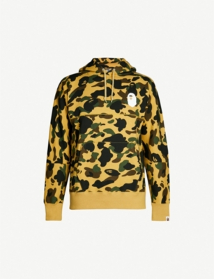 A BATHING APE Graphic-back camouflage cotton-jersey hoody