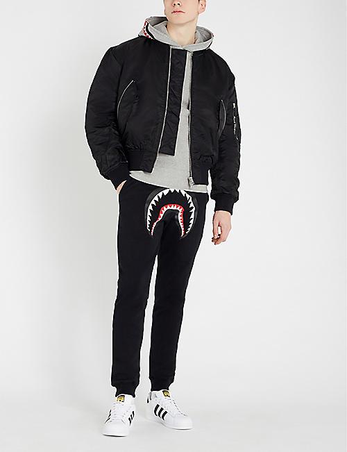 adc5517fefe A BATHING APE Shark cotton-jersey hoody