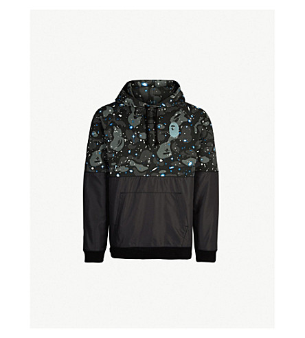 907de8be A BATHING APE Space Camouflage cotton-jersey and shell hoody (Black