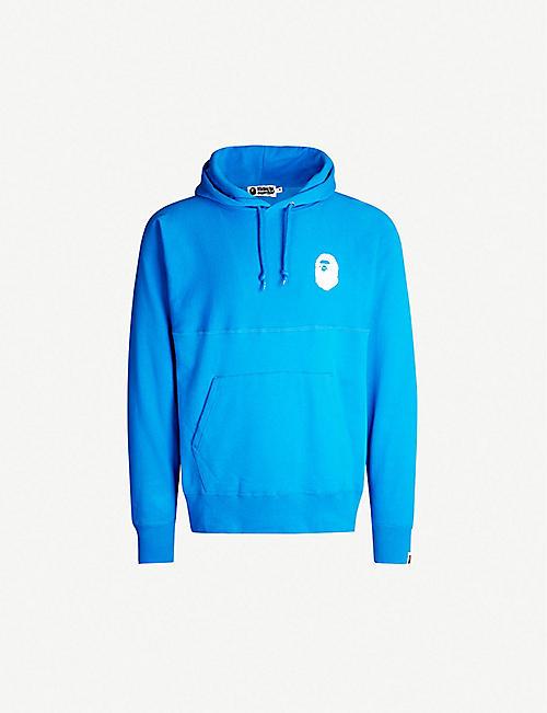 21844f45f5f A BATHING APE Logo-print cotton-blend hoody