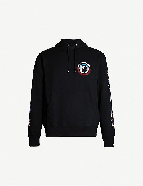 b9c4c15bfa94 A BATHING APE Graphic-sleeve cotton-jersey hoody