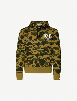 A BATHING APE Graphic-print camouflage-pattern cotton-jersey hoody