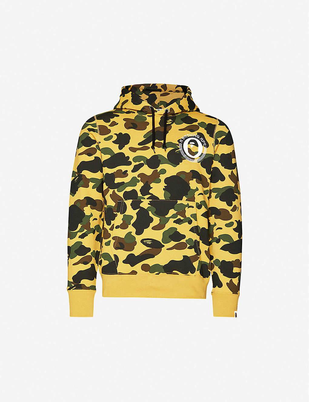 A BATHING APE: Graphic-print camouflage-pattern cotton-jersey hoody