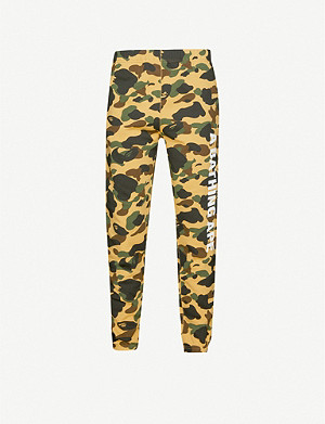 A BATHING APE 1st Camo tapered cotton-jersey jogging bottoms