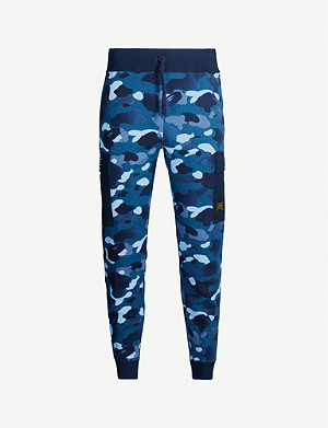 A BATHING APE Camouflage-print cotton-jersey jogging bottoms