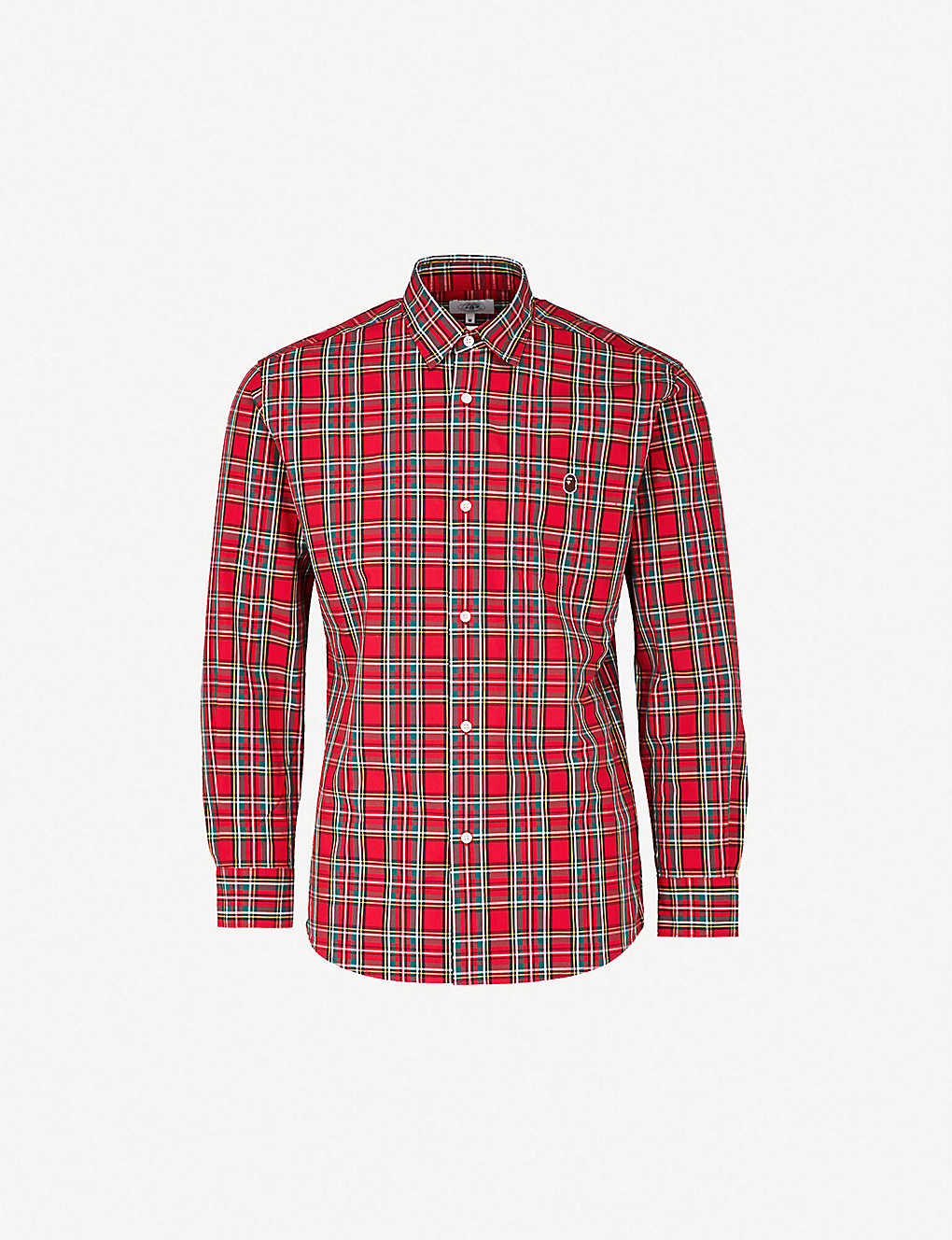 7677e9b4 A BATHING APE - Checked regular-fit cotton shirt | Selfridges.com