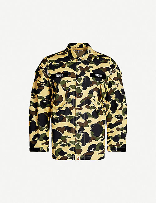 5f67f1d2 A BATHING APE 1st camouflage tactical military cotton shirt
