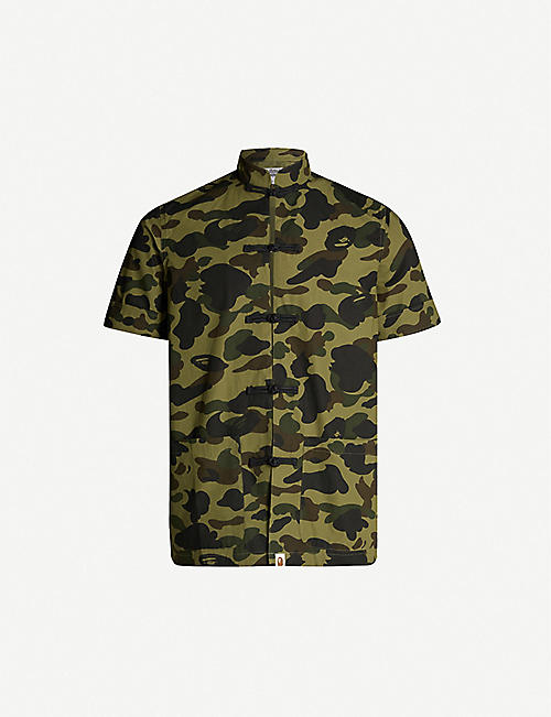 reputable site b7c93 31d3e A BATHING APE Camouflage-print cotton-jersey shirt