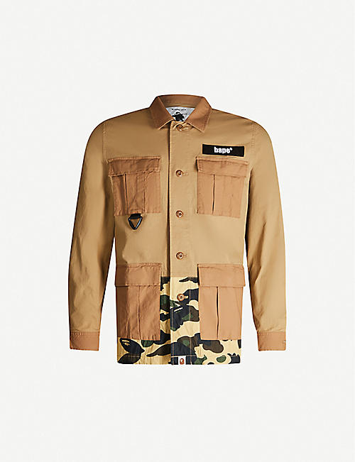 A BATHING APE Camouflage regular-fit cotton shirt