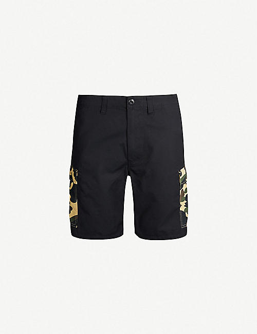 d757f84175c A BATHING APE Camouflage-print cotton shorts
