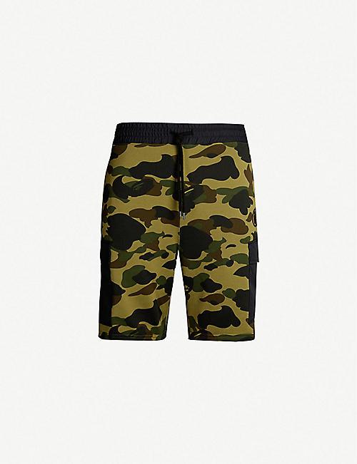 9229f76dc106 A BATHING APE Camouflage regular-fit cotton-blend shorts