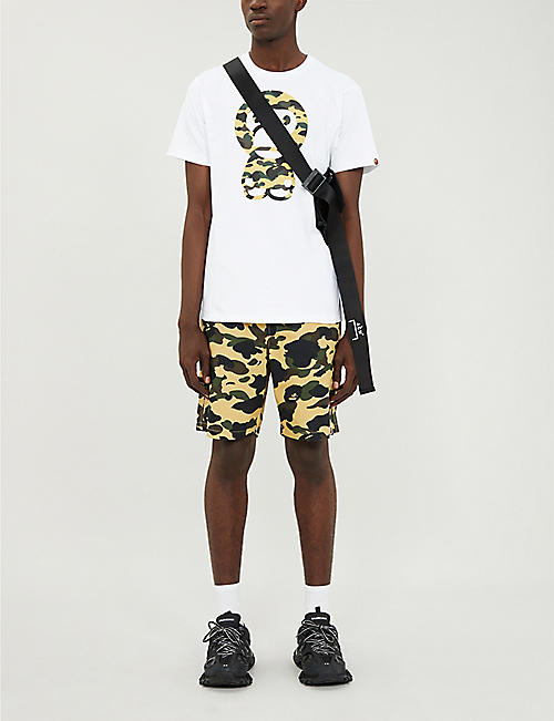 A BATHING APE Camouflage regular-fit cotton shorts