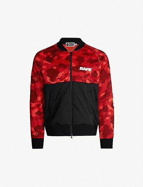 f92e58e08bb5 A BATHING APE Camouflage-print stretch-jersey jacket