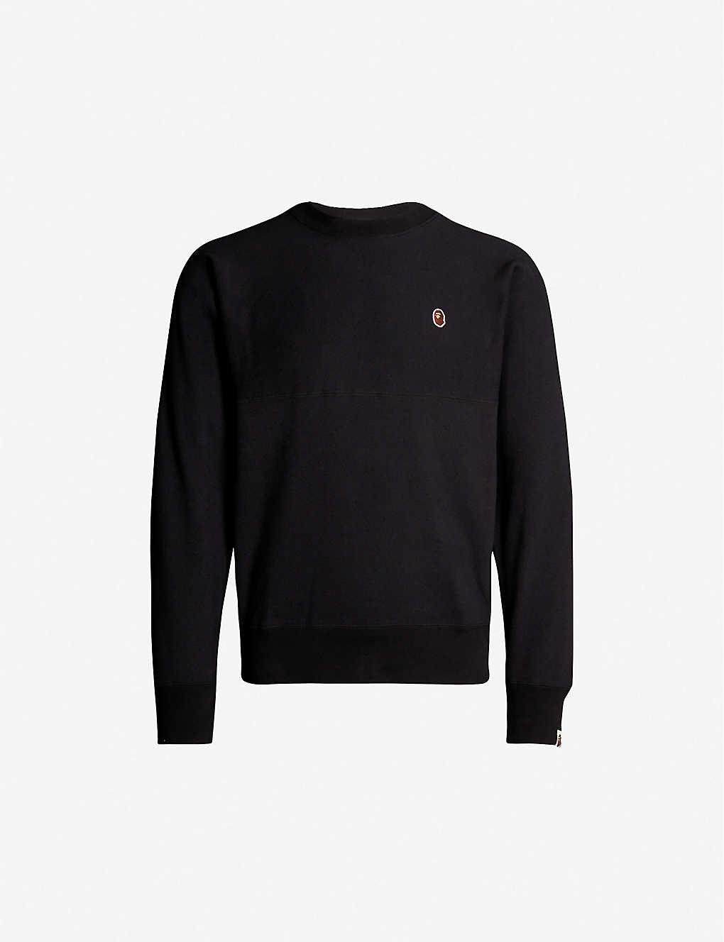 fb66280d4 A BATHING APE - Logo-appliquéd cotton-jersey sweatshirt | Selfridges.com