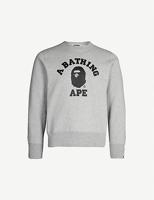 b0c73867db47 A BATHING APE College cotton-jersey sweatshirt