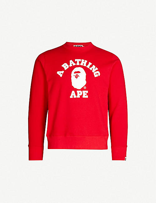 597b88f10ea2 A BATHING APE College cotton-jersey sweatshirt