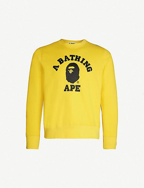 05d657f541 A BATHING APE College cotton-jersey sweatshirt