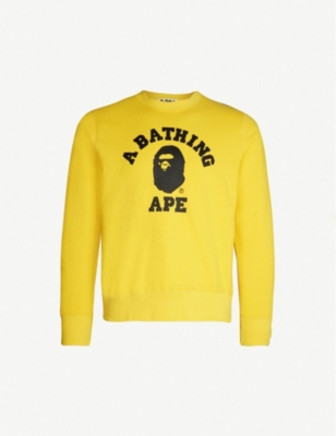 A BATHING APE College cotton-jersey sweatshirt
