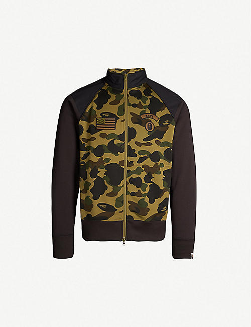 81eef5ac1bb A BATHING APE Camouflage-print zipped stretch-jersey jacket