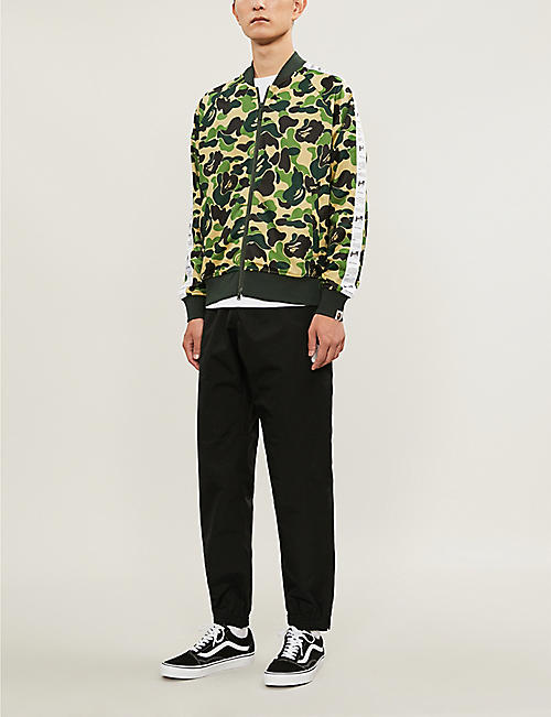 6abf2a02 A BATHING APE Camouflage-print sports-jersey jacket · Quick Shop