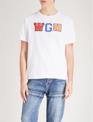 10653facd887d A BATHING APE - WGM and shark-print cotton-jersey T-shirt ...