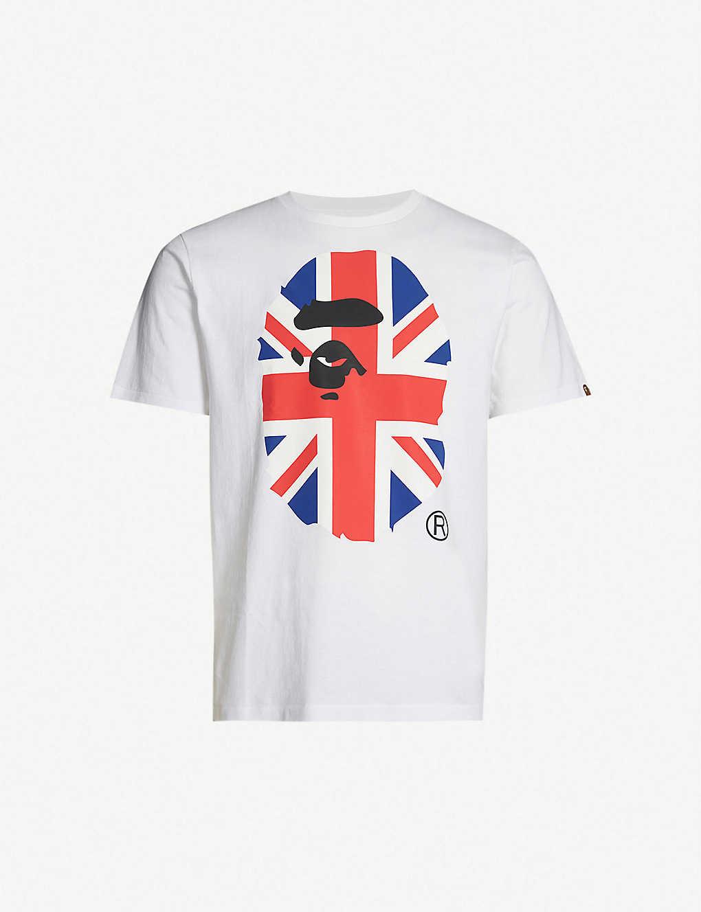 e29fd6625 A BATHING APE - Union Jack logo-print cotton-jersey T-shirt | Selfridges.com