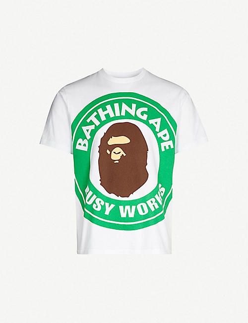 294fdd037aba3 A BATHING APE Busy Works cotton-jersey T-shirt