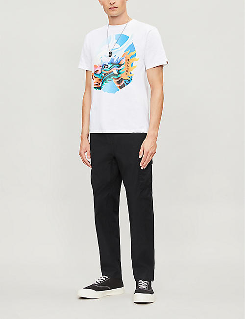 57e3aff4 A BATHING APE Dragon Boat graphic-print cotton-jersey T-shirt
